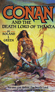 Covers Drawings Prints - Conan And The Death Lord Of Thanza 1997 Print by The Advertising Archives