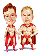Conan  O'brien And Jim Gaffigan As Pale Force Print by Art