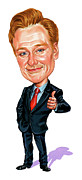 Caricature Paintings - Conan OBrien by Art