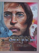 Thief Painting Originals - Conan the Movie Poster by Jennifer Morris Fouts