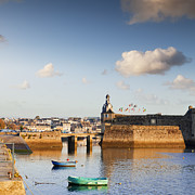 Rowing Boats Prints - Concarneau Brittany France Print by Colin and Linda McKie