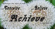 New Mind Digital Art Metal Prints - Conceive Believe Achieve Metal Print by Barbara Griffin