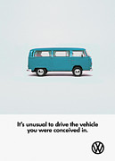 Vw Bus Posters - Conceived Poster by Mark Rogan