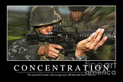Concentration Prints - Concentration Inspirational Quote Print by Stocktrek Images