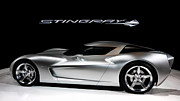 Super Car Prints - Concept Stingray Print by Peter Chilelli