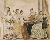 Lute Prints - Concert 16th C.. Renaissance Art Print by Everett