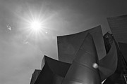 Jamie Pham - Concert flare - Walt Disney Concert Hall from Downtown Los Angeles in Black and White