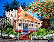 Abigail Paintings - Conch House by Abigail White