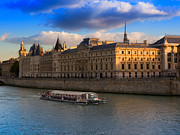 Justice Framed Prints - Conciergerie and the Seine River Paris Framed Print by Louise Heusinkveld