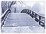 Concord Bridge Posters - Concord Bridge In Winter Poster by Bill Boehm