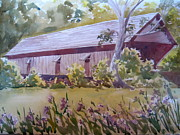 Concord Prints - Concord Covered Bridge Print by Kathy Rennell Forbes