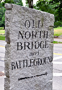 Concord Massachusetts Posters - Concord Ma Old North Bridge Marker Poster by Staci Bigelow