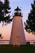 Concord Point Metal Prints - Concord Point Lighthouse Metal Print by Mark  Wall
