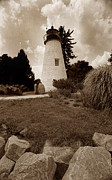 Lighthouse Wall Decor Prints - Concord Point Lighthouse Print by Skip Willits