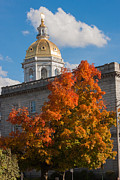 Concord Framed Prints - Concord State House Framed Print by Nestor Colon