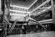 Airport Concourse Prints - concourse B at Denver International Airport Colorado USA Print by Joe Fox