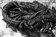Concrete Dragon  Print by Sheena Pike