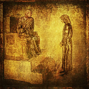 Religious Art Digital Art Metal Prints - CONDEMNED Via Dolorosa1 Metal Print by Lianne Schneider