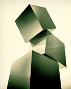 Geometric Photo Prints - Condescending Cubes Print by Bob Orsillo