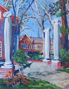 League Painting Prints - Condit Memorial at Univ. of Pacific Print by Vanessa Hadady BFA MA