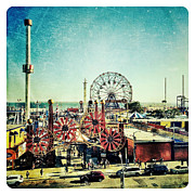 Coney Island Digital Art Prints - Coney Island Amusement Print by Natasha Marco