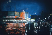 Night Life Paintings - Coney Island by Anthony Butera