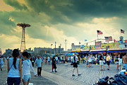 York Beach Framed Prints - Coney Island Brooklyn New York City Framed Print by Sabine Jacobs