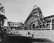 Coney Island Prints - Coney Island - Cyclone Roller Coaster Print by MMG Archives