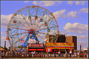 Coney Island Wonder Wheel Print by Dora Sofia Caputo
