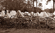 Confederate Photo Posters - Confederate camp 1860s Poster by David Lee Thompson