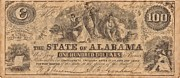 Alabama Mixed Media Posters - Confederate Money 3 Poster by Todd and candice Dailey