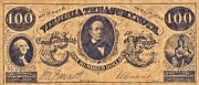 Signature Mixed Media Prints - Confederate Money 5 Print by Todd and candice Dailey