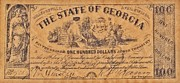 Signature Mixed Media Prints - Confederate Money 7 Print by Todd and candice Dailey