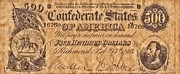 Signature Mixed Media Prints - Confederate Money Print by Todd and candice Dailey