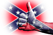 Confederate Flag Digital Art Prints - Confederate pride Print by Anthony Morgan
