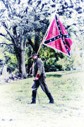 Confederate Flag Digital Art Prints - Confederate Soldier Print by Bill Cannon