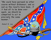 Confederate Flag Art - Confederate States Of America Robert E Lee by Digital Creation