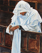 Catholic Art Painting Originals - Confess... by Xueling Zou