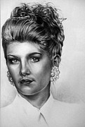 Pencil Portraits Drawings - Confidence Found by Dennis Rennock