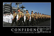 Shipmates Posters - Confidence Inspirational Quote Poster by Stocktrek Images