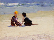 Lounging Painting Posters - Confidences Poster by Edward Henry Potthast