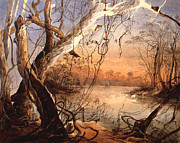 Fox Digital Art - Confluence Of The Fox River and Wabash by Karl Bodmer
