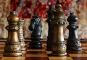 Chess Pieces Prints - Confrontation Print by Joe Kozlowski