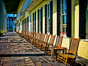 Rocking Chairs Metal Prints - Congress Hall Rockers Metal Print by Colleen Kammerer