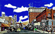 Congress Street Prints - Congress Street Fox Tucson Theater Tucson Arizona 1942 Print by David Lee Guss