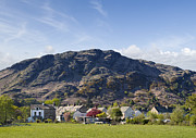 Coniston Art - Coniston Village and Coniston Old Man The Lake District Cumbria England UK  by Jon Boyes
