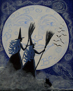 Man In The Moon Paintings - Conjuring Constellations by Christine Altmann