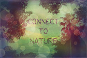 Connect To Nature Print by Sandy Moulder