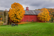 Fall In New England Metal Prints - Connecticut Autumn Metal Print by Bill  Wakeley