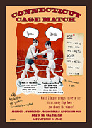 Improvisation Mixed Media Posters - Connecticut Cage Match Poster Poster by Ted Guhl
